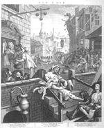 Hogarth engraving of 'Gin Lane'