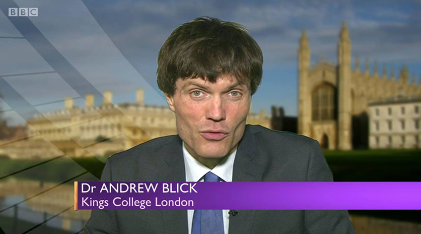 Dr Andrew Blick, Director of History & Policy interviewed for the BBC2 'Daily Politics'