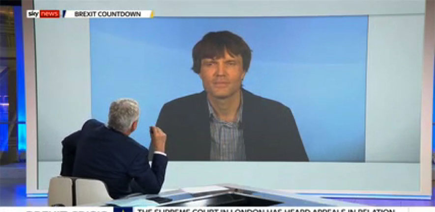 DrAndrew Blick interviewed on Sky News