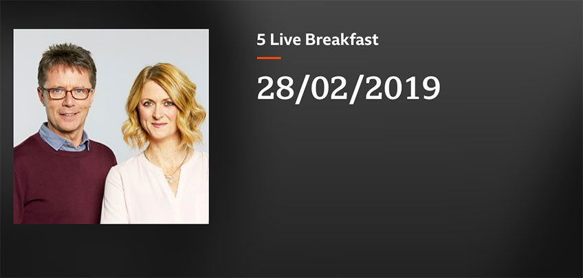 BBC 5 Live Breakfast