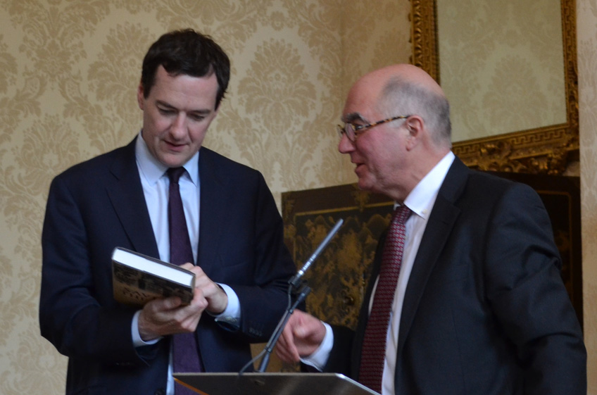 Chancellor of the Exchequer, George Osborne and Professor Richard Roberts