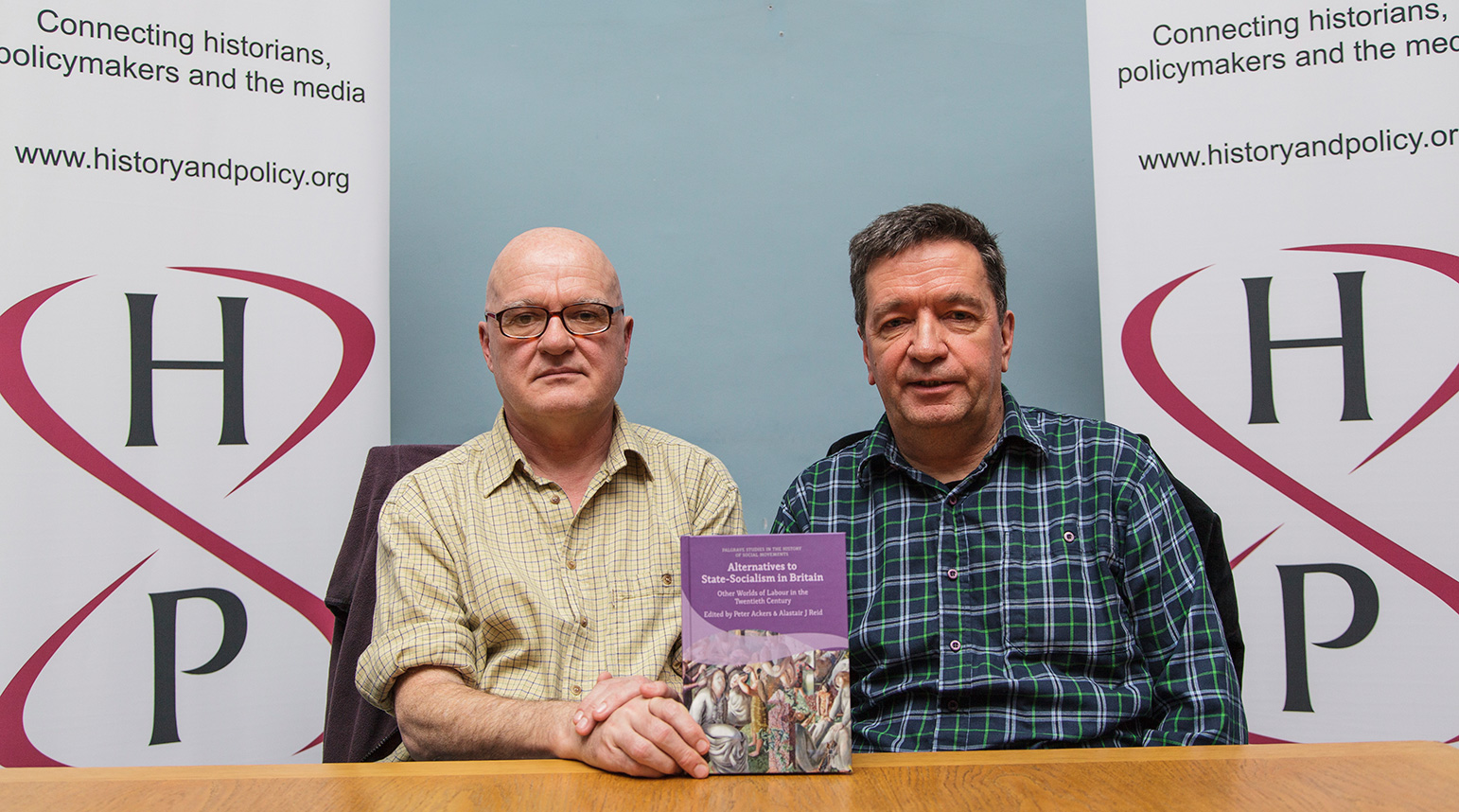Professor Peter Ackers and Dr Alastair Reid with their new book; Alternatives to State-Socialism in Britain.