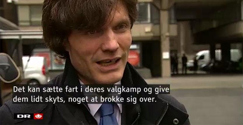 H&P Director Dr. Andrew Blick interviewed by Danish news programme TV-Avisen.