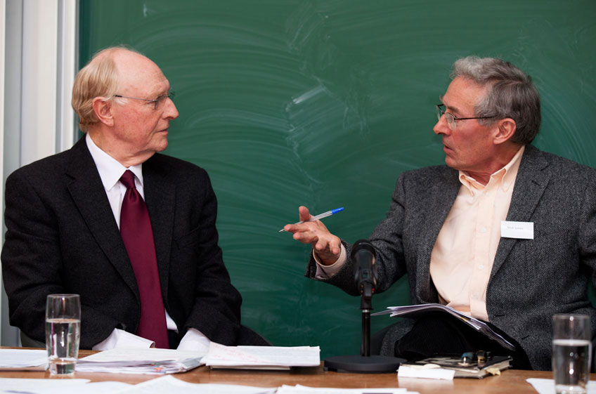 Lord Kinnock in conversation with former BBC journalist Nick Jones