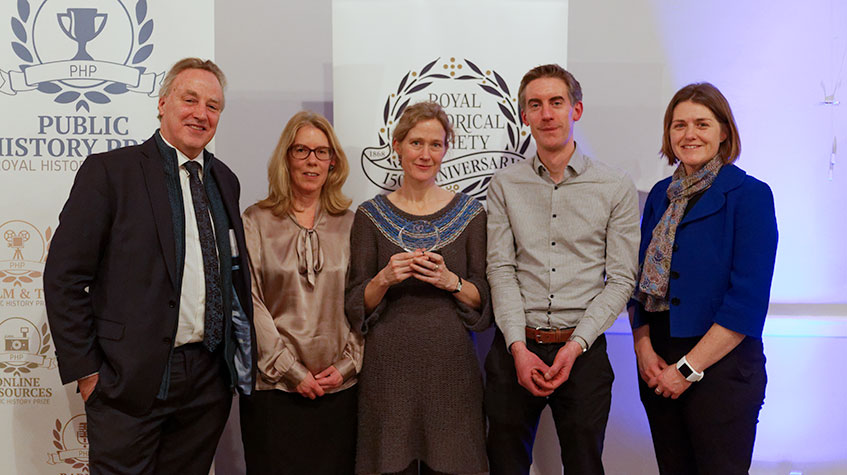 From left to right: Simon Szreter, Louise Jackson, Lucy Delap, Adrian Bingham and Alix Green. Image: Copyright RHS.
